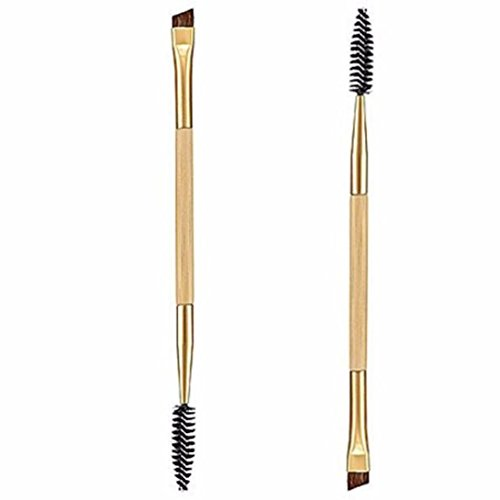 rosennie-1pcs-makeup-bamboo-handle-double-eyebrow-brush-eyebrow-comb