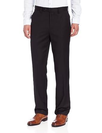 Louis Raphael Limited Light Brown Textured Flat Front Wool Dress Pants