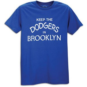 Dodgers No Mas Keep The Dodgers In Brooklyn T-Shirt - Men' ( sz. M, Royal/White : Dodgers )