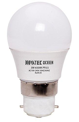 NOVATEK-GREEN-3W-B22-LED-Bulb-(Cool-White)