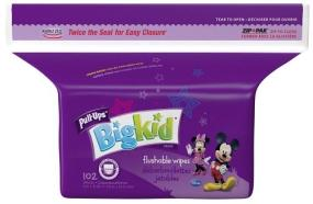 Pull-Ups Big Kid Flushable Wipes contain aloe and vitamin E to help keep your toddler?s skin soft.