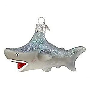 #!Cheap Old World Christmas Glass Ornament - Shark