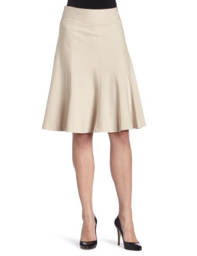 Rafaella Womens Solid Gored Skirt