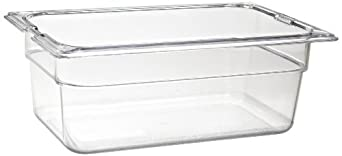 "Carlisle 1028107 TopNotch Quarter-Size Food Pan, 2.8 qt. Capacity, 10.25 x 6.38 x 4.00"", Clear (Case of 6)"
