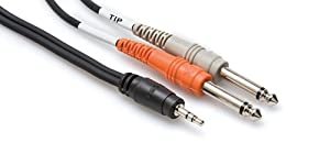 Hosa CMP153 Y Cable 1/8 Inch TRS to Dual 1/4 Inch TS Cable - 3 Foot