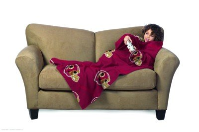 NFL Washington Redskins Youth Size Comfy Throw Blanket with Sleeves