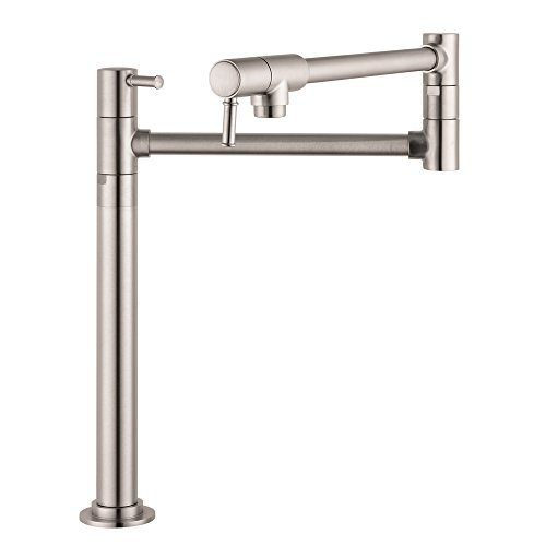 Fantastic Deal! Hansgrohe 04219800 Talis C Pot Filler Deck Mounted, Steel Optik
