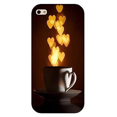 Cup Pattern Hard Back Case for iPhone 5/5S