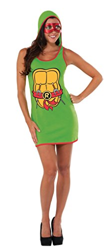 Rubie's Costume Co Women's TMNT Classic Costume Raphael Hooded Tank Dress