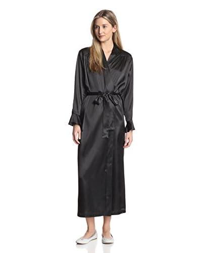 Oscar de la Renta Pink Label Women's Ruffle Cuff Luster Robe