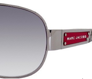 Marc Jacobs Marc Jacobs 125/U/S Sunglasses Dark Ruthenium / Red Black Marbl / Gray Gradient