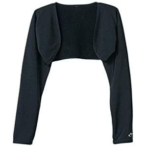 Terry Women's Thermal Bolero - BLACK, SMALL/MEDIUM