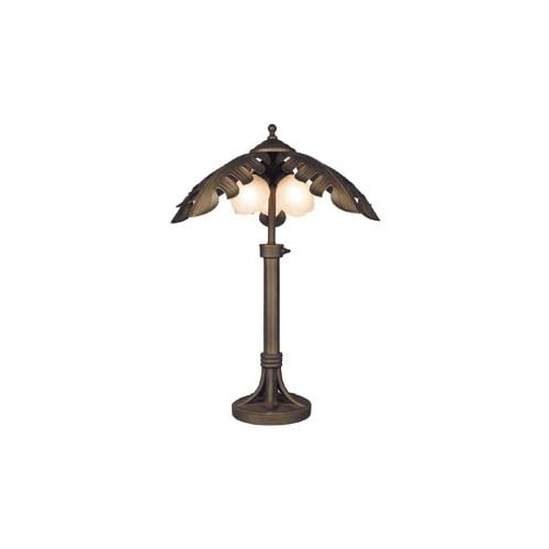Bel Air Outdoor 3 Light Outdoor Palm Tree Table Lamp