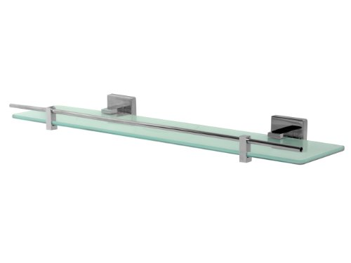 bisk-arktic-01461-etagere-en-verre-givre-avec-support-finition-chrome-50-x-128-x-5-cm