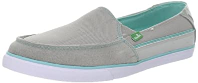 Sanuk Women's Standard Streaker Slip-On,Grey/Teal,9 M US