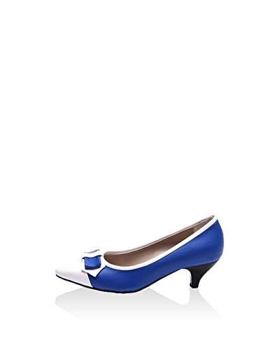 Just Bow Salones JB-1125 Azul / Blanco