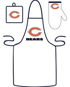 Caseys Distributing 9960603086 Chicago Bears Grilling Apron Set