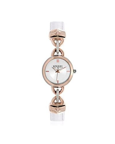 Sperry Top-Sider Women's 10015073 Lexington Stainless Steel Watch with White Band