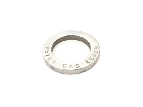 Ring Edelstahl persönliche Botschaft Name Wort Stapelring (Ring stainless steal, with personal message, name, word, stacking ring) (Edelstahl Ring compare prices)