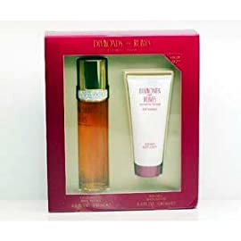 Gift/Set White Diamond Rubies 2 Pieces (50ml Eau De Toilette Spray + 100ml Body Lotion) Women