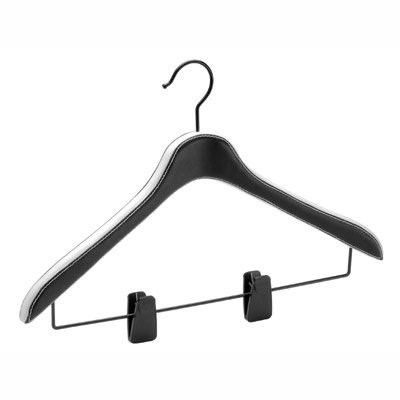 Organize It All  Faux Leather Blouse/Skirt Hanger,