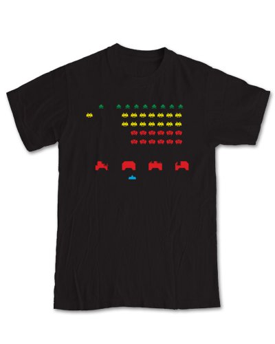 Space Invaders Gaming T-Shirt - (Black) 2XL