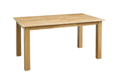 Premier Housewares Dining Table, 75 x 120 x 80 cm, Solid Oak