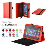 Elsse (TM) Premium Folio Case with Stand for Microsoft Surface Windows 8 RT (Does not fit Windows 8 Pro Version) - (Surface RT Orange)