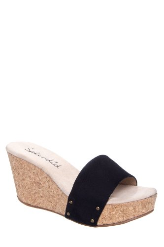 Greenville High Wedge Slide Sandal