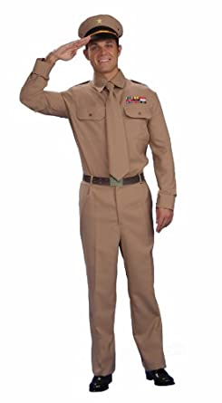 Forum Novelties Men's World War II General Costume, Brown, Standard
