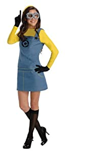 Secret Wishes  Costume Despicable Me 2, Female Minion Dress With Accessories, Multicolor, Small