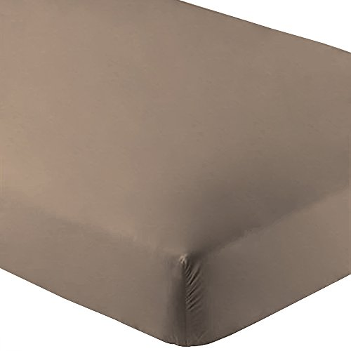 Fitted Bottom Sheet Premium 1800 Ultra-Soft Wrinkle Resistant Microfiber, Hypoallergenic, Deep Pocket (King, Taupe) (Bottom Sheets compare prices)