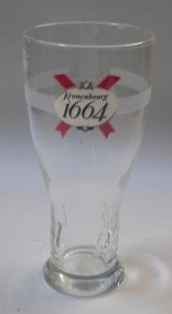 Kronenbourg Pint Glasses CE 20oz / 568ml - Set of 4 | Kronenbourg 1664 Beer Glasses