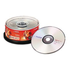 ** DVD-R Discs, 4.7GB, 16x, Spindle, Silver, 25/Pack **