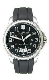 Victorinox Swiss Army Officer's Automatic Strap Black Dial Men's Watch #241369