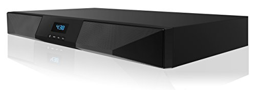 SHARPER IMAGE SBT2015BK 2.1CH Bluetooth Stereo Sound Base for TV with Built-In Subwoofer and FM Radio (Black)