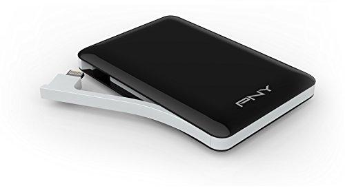 Batería Externa PNY L3000 3000mAh de 1 Amperios batería recargable con conexión Lightning incluida para iPhone