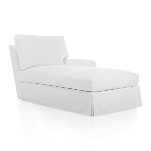 Crate And Barrel Ellyson Slipcovered Right Arm Chaise
