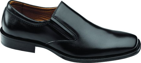 Johnston & Murphy Men's Harding Plain-Toe Slip-On,Black Italian Calf,12 M US