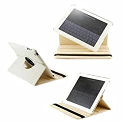 Callmate 360 degree Rotating Case/Cover for iPad 2, 3 and 4 (White)