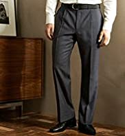 Big & Tall Collezione Pure Wool Single Pleat Trousers