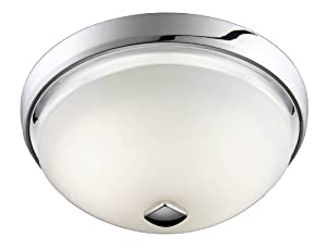 Nutone 788chnt corrosion resistant decorative ventilation fan with light 100 cfm chrome for Decorative bathroom fan with light