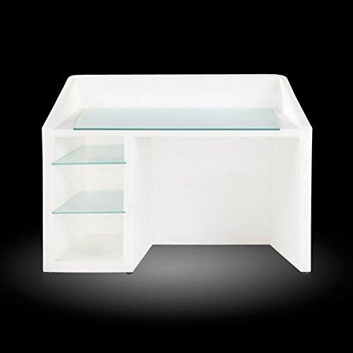 Slide Kanal Light Scrivania - Reception luminosa Bianco luminoso