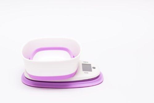 Intercube dIGITAL dESIGN balance culinaire pèse-lettres balance 5000 g/1 g rose avec saladier de pop-up