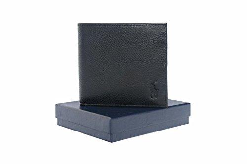 Ralph Lauren AW636 Billfold Portafoglio da uomo in pelle con portamonete, colore: nero