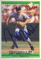 Jeff Reboulet Portland Beavers - Twins Affiliate 1992 Donruss The Rookies Autographed... by Hall of Fame Memorabilia