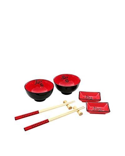 Premier Housewares Artículos de Mesa 10 Piezas Rojo