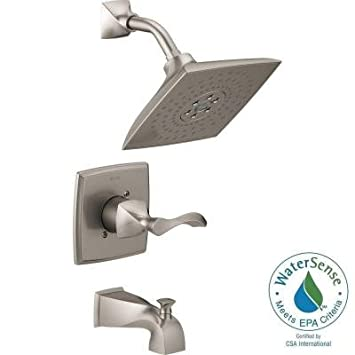 Everly H2Okinetic Single-Handle 3-Spray Tub and Shower Faucet, SpotShield Brushed Nickel