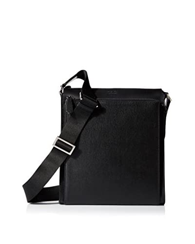 Fendi Men's Elite Leather Messenger, Black