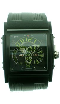 HD3: Three Minds Limited Edition Men's Watch ( Black PVD Titanium Case / Black & Green Skeleton Dial / Black Rubber Strap)